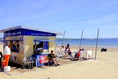 Sätta på land kafét, Weymouth, Dorset, UK Royaltyfria Bilder