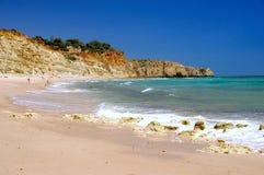 Sätta på land med porto de Mos, Algarve Portugal Royaltyfri Bild