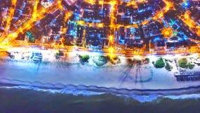 sätta på land natten Arkivbild