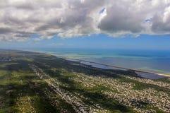 Sätta på land paradiset, den underbara stranden, strand i regionen av Arraial gör Cabo, tillstånd av Rio de Janeiro, Brasilien Sy arkivfoton