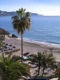 Sätta på land platsen i Nerja, en sömnig spansk feriesemesterort på Costa Del Sol nära Malaga, Andalucia, Spanien, Europa Arkivfoto