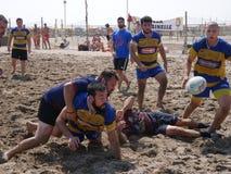 Sätta på land rugby Rosolina 2016 - det rugbyFrassinelle laget Royaltyfri Fotografi