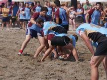 Sätta på land rugby Rosolina 2016 - det rugbyVilladose laget Arkivfoto