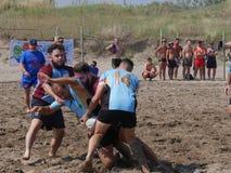 Sätta på land rugby Rosolina 2016 - det rugbyVilladose laget Arkivbild