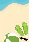 sätta på land semestern för flipmisslyckandesommaren royaltyfri illustrationer