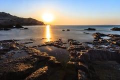 sätta på land soluppgången Fotografering för Bildbyråer