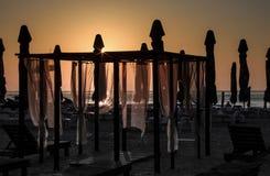 sätta på land soluppgången Royaltyfri Fotografi