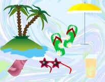 sätta på land sommaren stock illustrationer