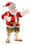 Sätta på land sommaren Santa vektor illustrationer