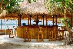 Sätta på land stången, stranden, det indiska havet, Indonesien, GILI-luft Royaltyfri Fotografi