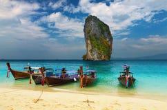 sätta på land tropiska thailand Arkivbilder