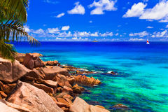 sätta på land tropiskt Arkivfoto
