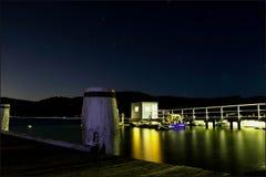 Sätter en klocka på den hamnplatsSkottland ön Sydney Australia Royaltyfria Foton