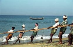 sätter på land goaen india Arkivbild