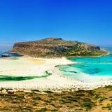 sätter på land greece Fotografering för Bildbyråer