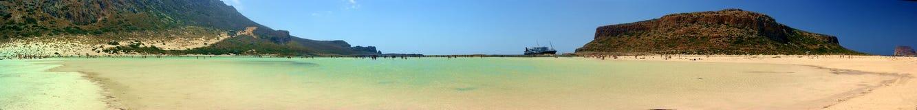 sätter på land lagunen Arkivfoto