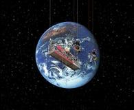 Säubern der Welt Stockfoto