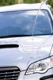 Säubern des Autos stockfoto