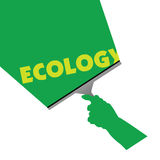 Säubern für Ökologieillustration Stockbild