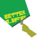 Säubern für bessere Lebenillustration Lizenzfreies Stockbild