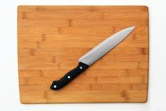 Säubern Sie Ausschnitt-Vorstand und Messer Stockbild