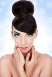 Säubern Sie Bild einer schönen jungen Frau lizenzfreie stockbilder