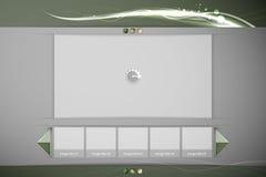 Säubern Sie Bild oder Video-Player-Schnittstelle Lizenzfreies Stockbild
