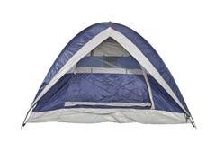 Säubern Sie blaues Zelt Stockfoto