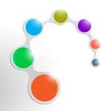 Säubern Sie das Element, das mit bunten Kreisen infographic ist Stockfotos