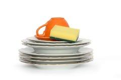 Säubern Sie Dishware Stockfoto