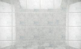 Säubern Sie Fliesenwand-Badezimmerhintergrund Abbildung 3D Lizenzfreies Stockbild