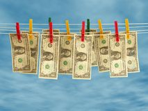 Säubern Sie Geld Stockfotografie