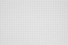 Säubern Sie Gitterpapierhintergrund, Gitternotizbuch Stockfoto