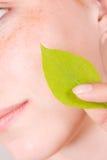Säubern Sie Haut Stockfoto