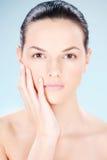 Säubern Sie Hautfrau Lizenzfreie Stockbilder