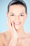 Säubern Sie Hautfrau Lizenzfreies Stockbild