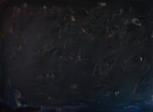 Säubern Sie Kreidebrettoberfläche - whiped aus- dunkles Tonen für helle Symbole und Schreiben Lizenzfreie Stockfotos