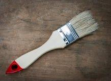 Säubern Sie Lackpinsel stockfoto