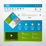 Säubern Sie moderne Websiteschablone stock abbildung