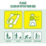 Säubern Sie nach Ihrem Hund Stockbilder