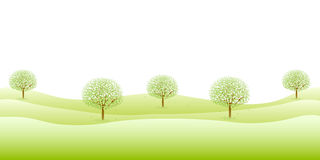 Säubern Sie neue grüne Hintergrundillustrationen Stockfotos