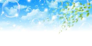 Säubern Sie neue grüne Hintergrundillustrationen Lizenzfreie Stockfotografie