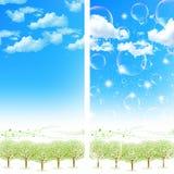 Säubern Sie neue grüne Hintergrundillustrationen Stockfoto