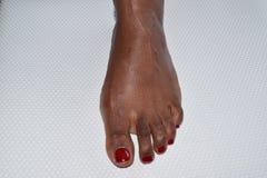Säubern Sie pedicured weiblichen Fuß Stockbilder