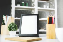 Säubern Sie Rahmen und Kaffee Lizenzfreie Stockbilder