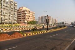 Säubern Sie Stadt von Indien Stockfotografie