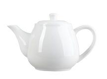 Weiße Teekanne Stockfotografie