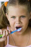 Säubern Sie teeth1 Lizenzfreies Stockbild