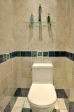 Säubern Sie Toiletteninnenraum Stockbild