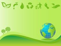Säubern Sie Umgebung und Erde lizenzfreie abbildung